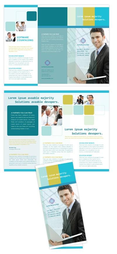 Software developers tri fold brochure template 25 tri for Software brochure templates