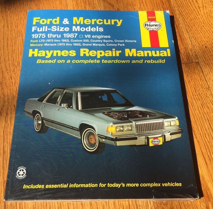 Ford & Mercury 1973-1986 Full Size Models Haynes Repair Manual Book 36036  | eBay Motors, Parts & Accessories, Manuals & Literature | eBay!