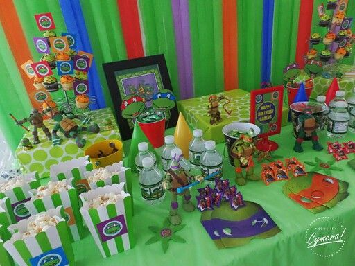Tmnt table set. Ninja Turtle ... & 85 best Cumpleanos ninja turtle images on Pinterest | Ninja turtle ...