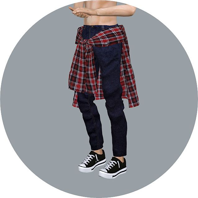 Male Tied Shirt Jeans at Marigold • Sims 4 Updates