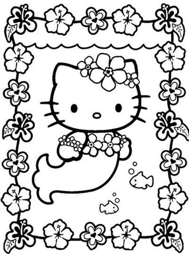 hello kitty coloring pages for girls - Printable Kids Colouring Pages