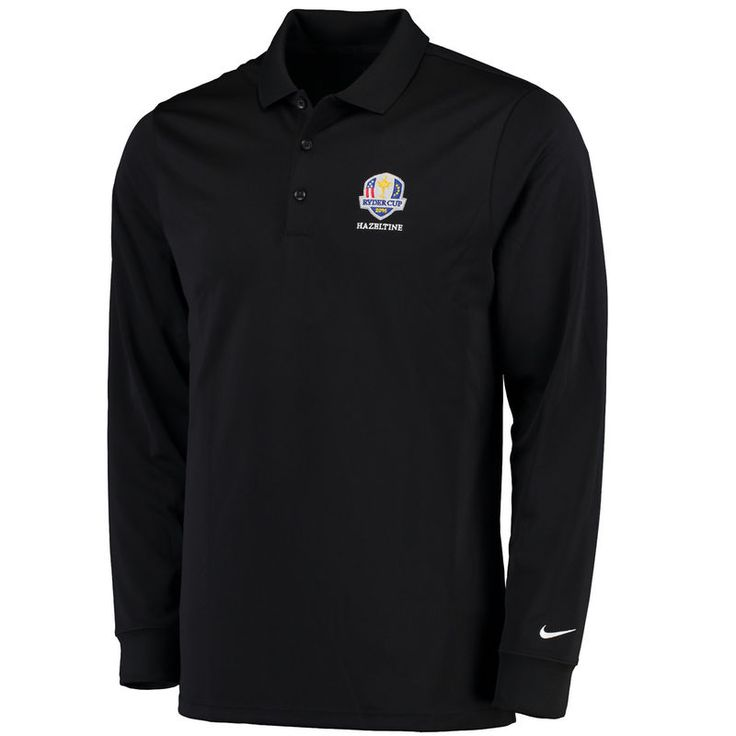 Nike Golf 2016 Ryder Cup Victory Performance Long Sleeve Polo - Black