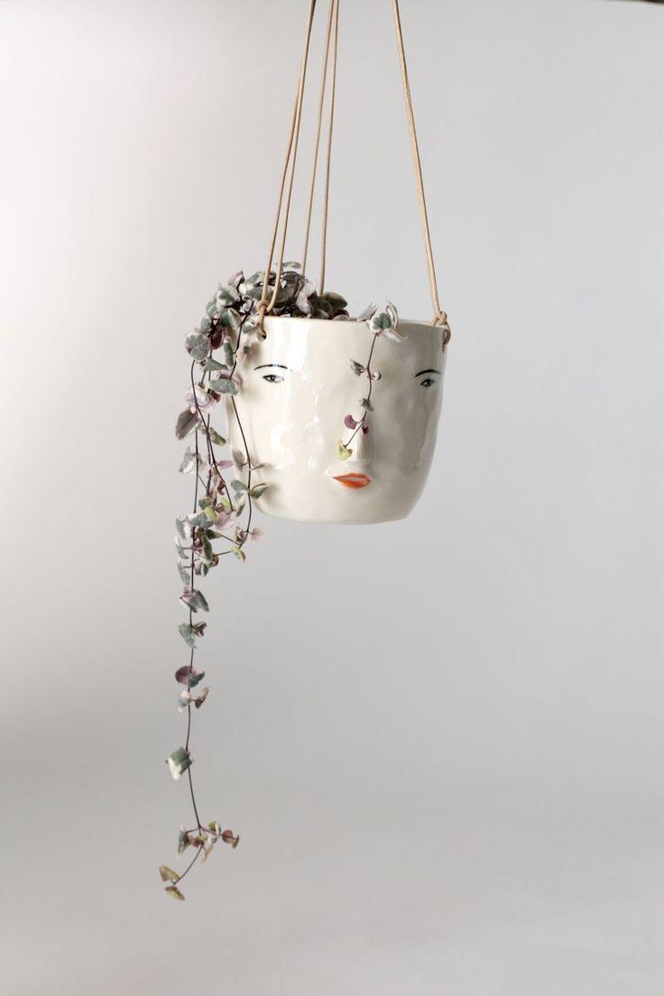 Face Hanging Pot   Girl  Made To Order