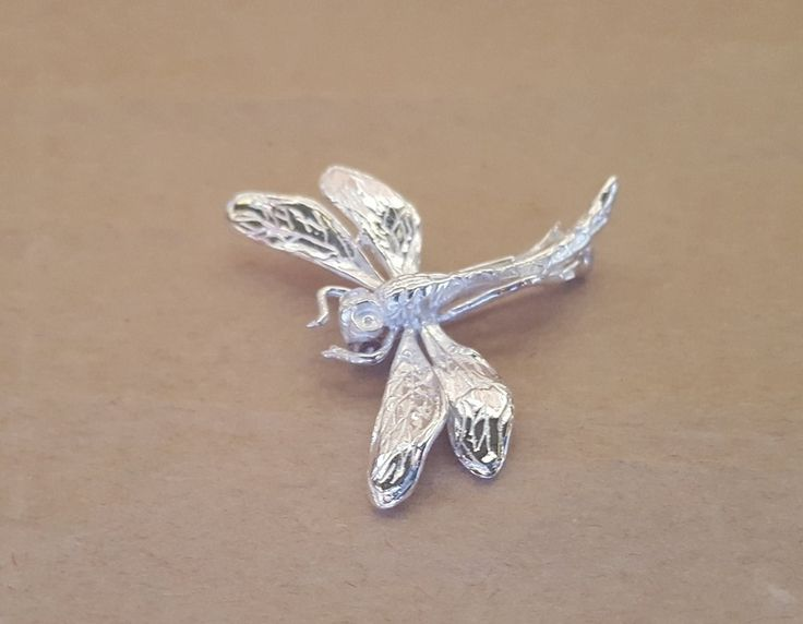 Brooch - DRAGONFLY - Sterling Silver or 9ct Gold