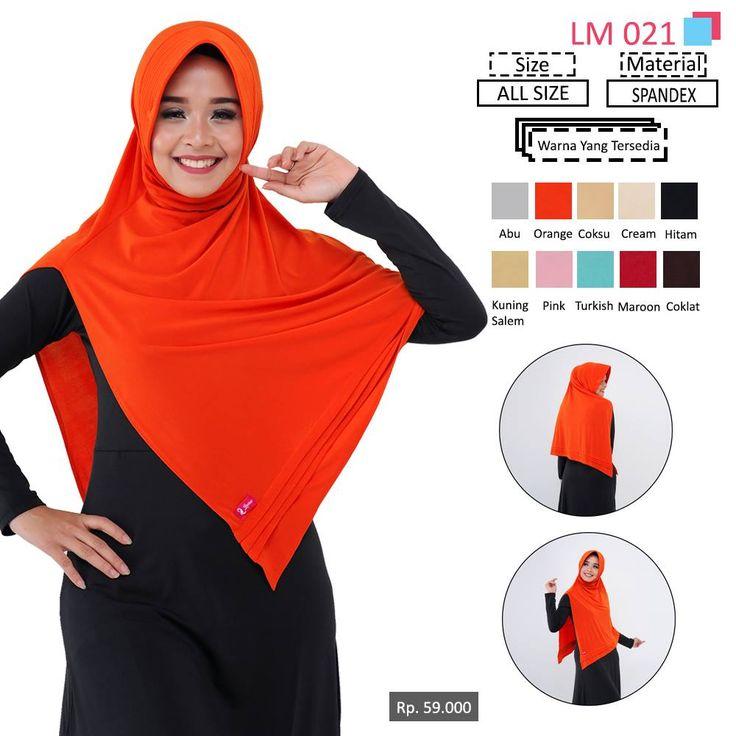 LM 021 Lamia Hijab - Kerudung Bergo Syar'i bahan kualitas premium, nyaman dipakai dan anti gerah. Material : Spandex. Size : All Size. #lamiahijab #hijabindonesia #kerudunginstan #bergo