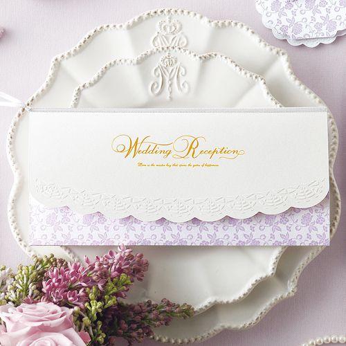 波形ラインが乙女チック♡ セクシーなパープルの席次表まとめ。結婚式の席次表デザイン一覧。