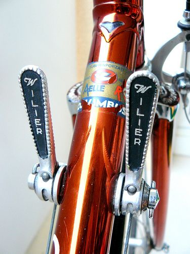 Sticks of joy | Wilier-branded Campagnolo shifters - the bra… | Flickr