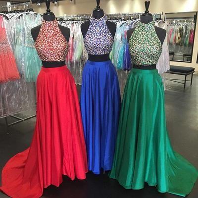 Two piece prom dresses custom made