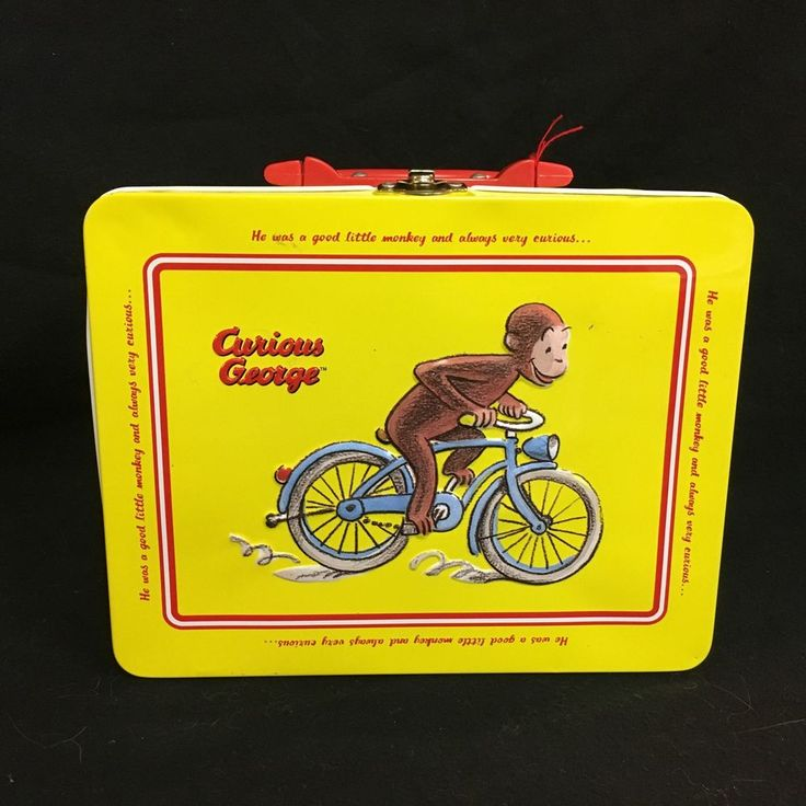 Curious George Metal Lunch Box Yellow Schylling