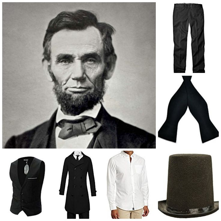 Abraham Lincoln Halloween Costume for Guys with Beards