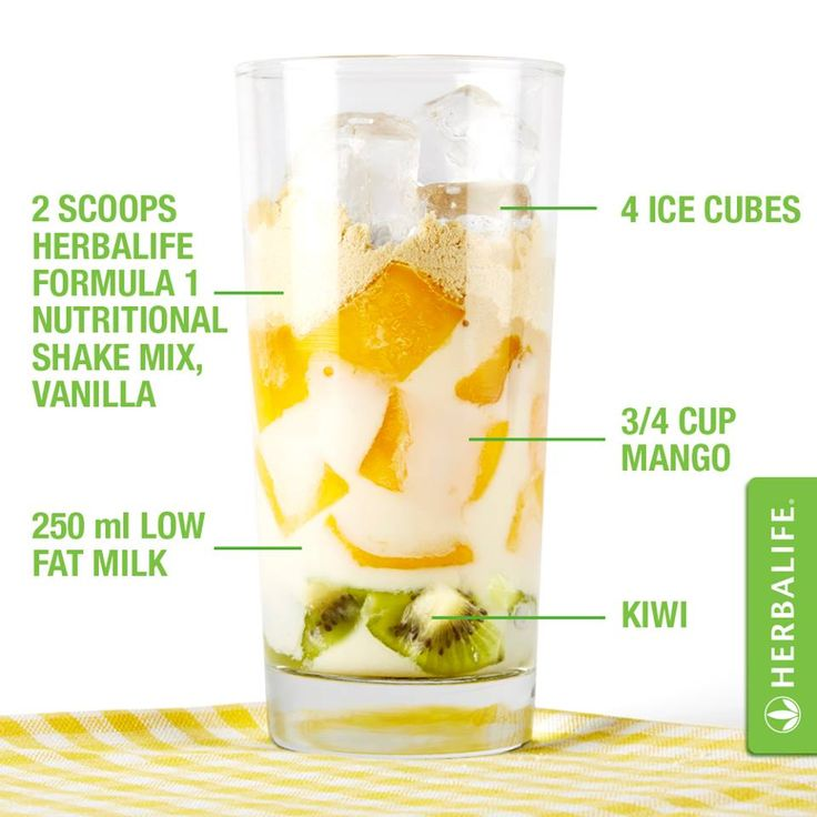 Herbalife vanilla and fruit Meal Replacement shake.  Healthy, low fat, 21 vitamins and minerals and supper yummy! www.goherbalife.com/kristybrooks to get yours today!