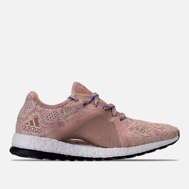 01ca98b1dff71d Right view of Women s adidas PureBOOST X Element Running Shoes in Ash Pearl Ash  Pearl Hi-Res Blue