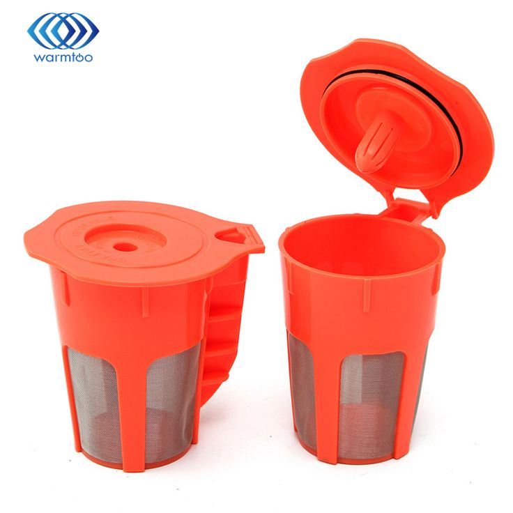 New Arrival Durable Quality 2 Pack Keurig 2.0 Refillable K-Carafe Reusable Coffee Filter Replacement Orange