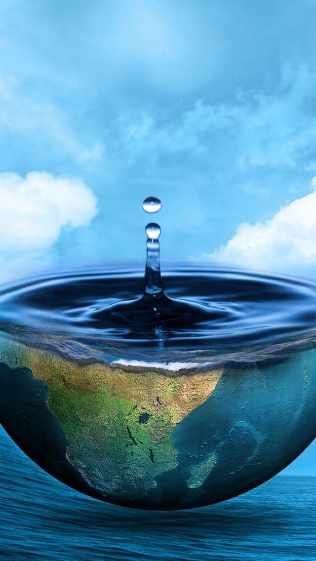 Half Earth Precious Water Source Ocean Skyscape #iPhone #6 ...