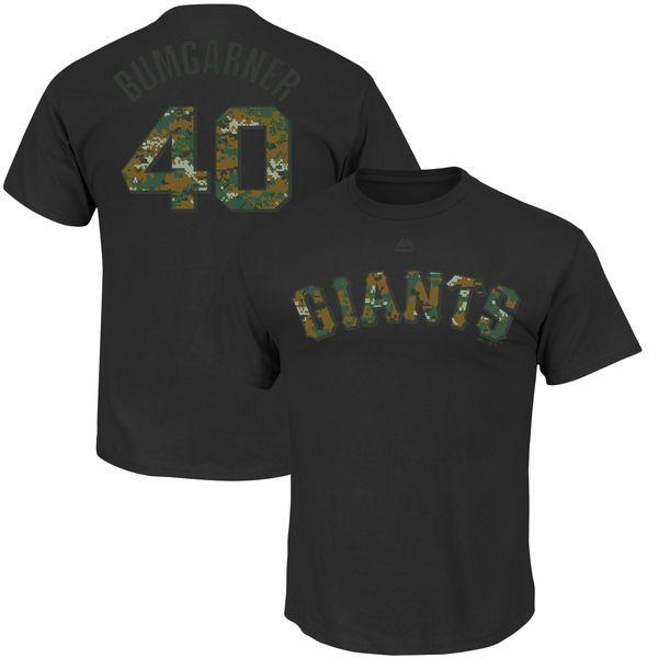 603738333 ... Madison Bumgarner San Francisco Giants Majestic Memorial Day Name  Number T-Shirt - Black ...