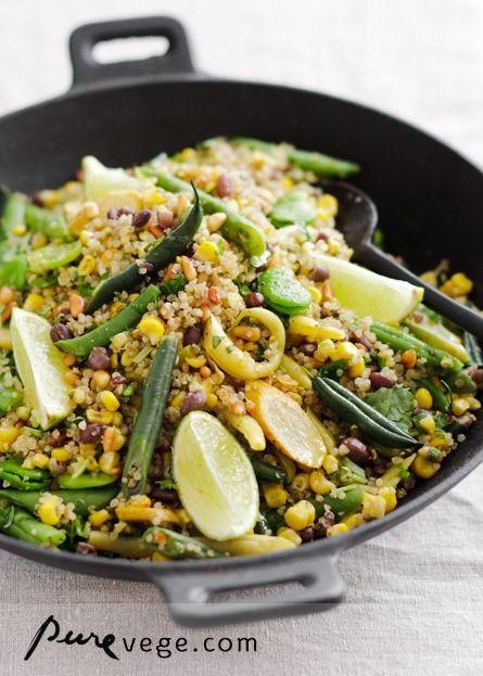 quinoa pilaf from purevegeVegan Recipe, Low Carb Quinoa Recipe, Puree Vegetarian, Food, Low Carb Vegetarian Meals, Healthy Eating, Vegetarian Low Carb Recipe, Quinoa Pilaf, Vegetarian Recipes