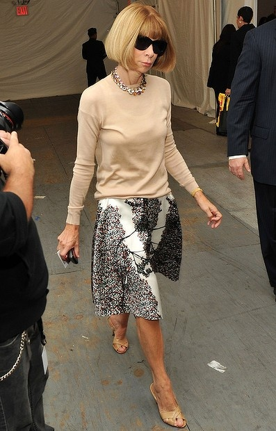 Anna arrives at the Lincoln Center during New York Fashion Week