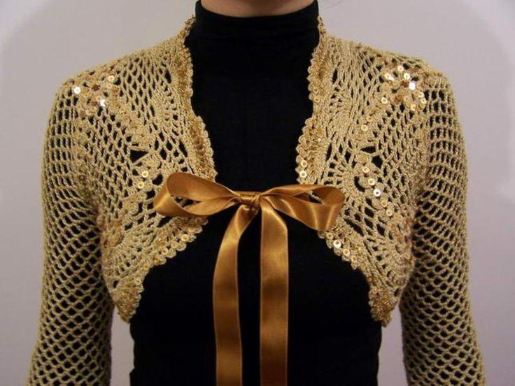 24 besten Crochet wedding bolero Bilder auf Pinterest | Kleidung ...