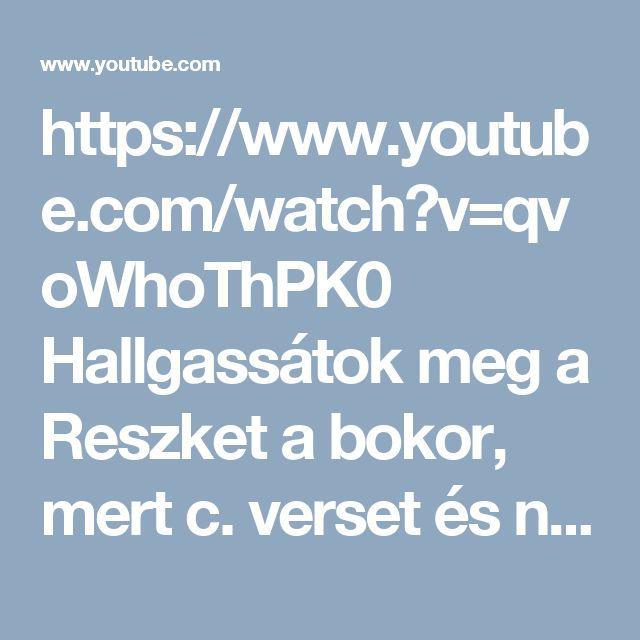 https://www.youtube.com/watch?v=qvoWhoThPK0 Hallgassátok meg a Reszket a bokor, mert c. verset és nézzétek meg a versfilmet!