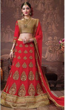 Red Color Georgette Embroidery Work Treditional Lehenga Choli | FH577685369 Follow us @heenastyle  #2016brides #bridallehenga #traditionallehenga #stoneworklehenga #couture #bridalcouture #traditionbridallehenga #orangishred #traditionalbride #indianbride #indianwedding #lehenga #lehengacholi #lehnga #lehengas #wedding #bridal #bride #nikah #shaadi #sangeetnight #ladiesnight #partywear #fashionlovers #fashionweek #fashion #youthlehenga #glamorous #ethnic #heenastyle