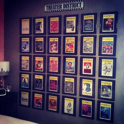 Creative way to display your PLAYBILLS!!