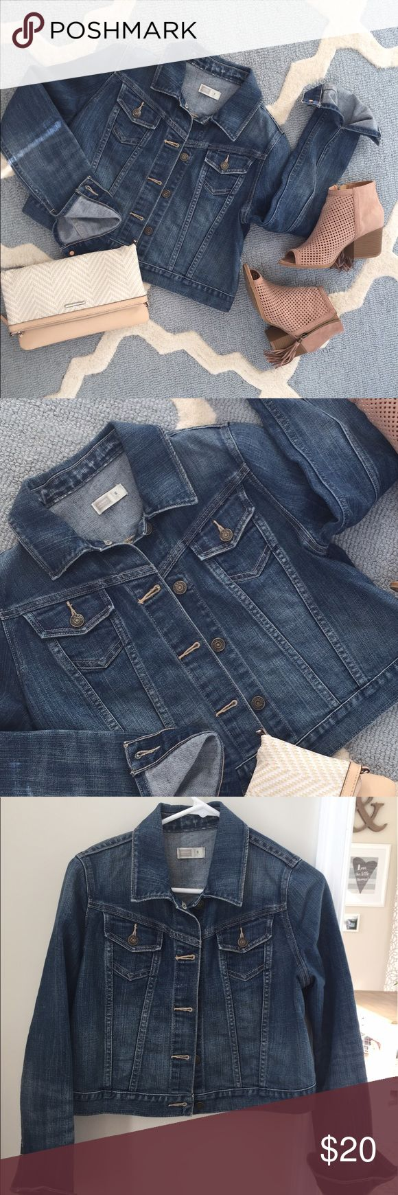 Maternity jean jacket Old Navy maternity jean jacket in dark wash. Super cute with any spring outfit! :) Excellent condition. Smoke-free and pet-free home. Please let me know if you have any questions!! Happy Poshing! :) Old Navy Jackets & Coats Jean Jackets
