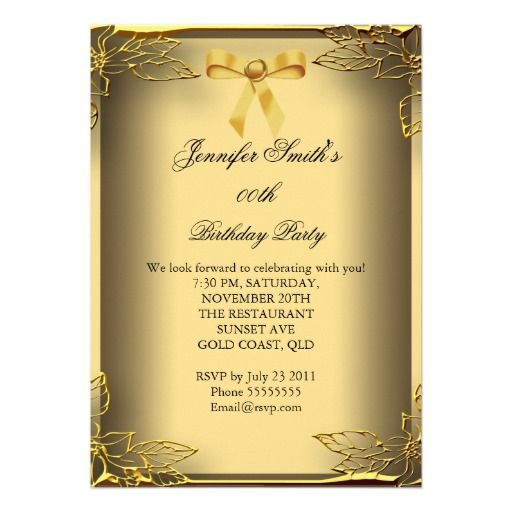 Best Cheap Th Birthday Invitations Images On Pinterest - Birthday invitation gold coast