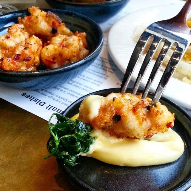 Prawn fritters with saffron aioli at Jose Pizarro Broadgate. http://www.opentable.co.uk/jose-pizarro-broadgate?ref=12716