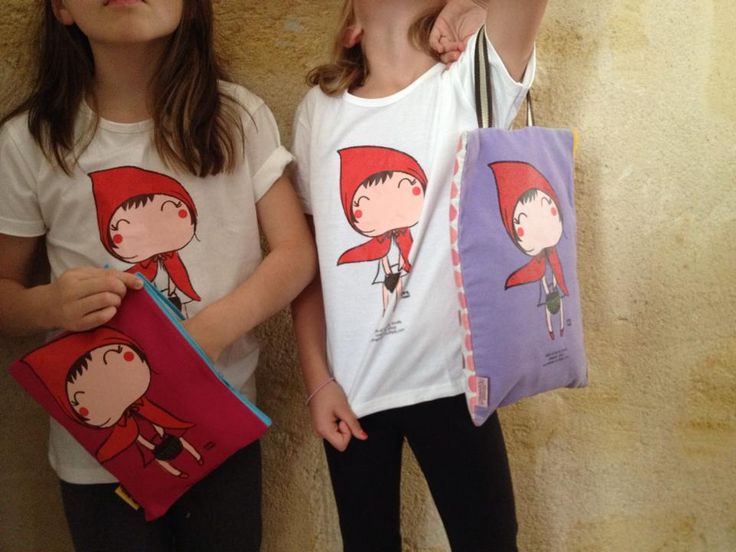 tee-shirt le petit chaperon rouge / little red riding hood  Oneman brand www.biancapeople.fr