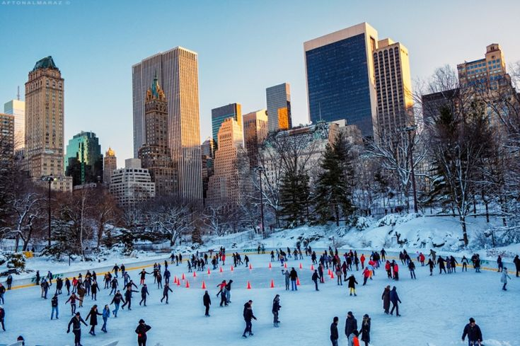 in New York zu Weihnachten, Schlittschuhlaufen