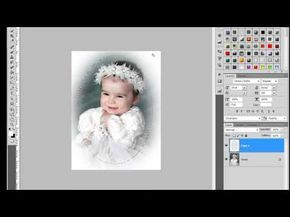 ▶ Marco desvanecido Caritas de Bebe #Photoshop - YouTube