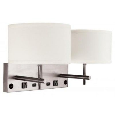 Wall Sconce With Usb : 10+ images about Hotel light fixtures on Pinterest Drum shade, Hotel bathrooms and Fabric shades