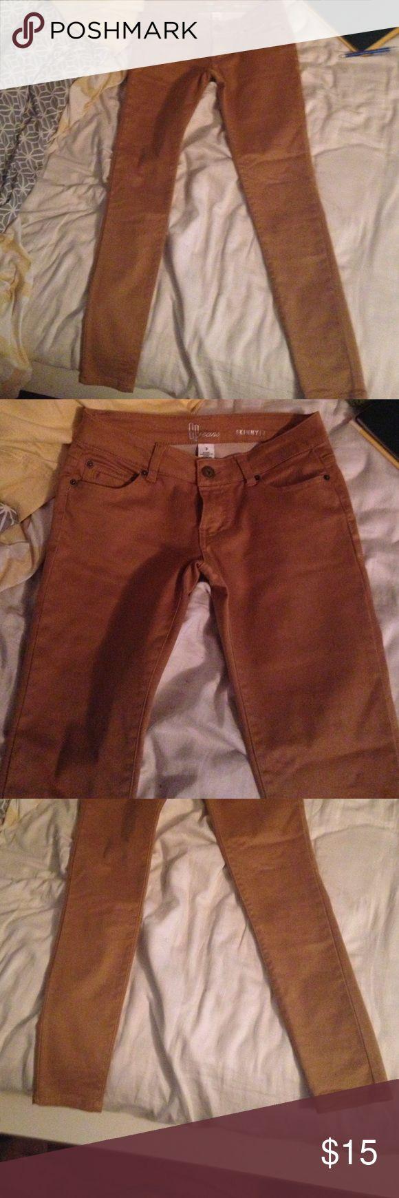 Dark khaki skinny pants Dark khaki skinny pants. Worn once. Pants Skinny
