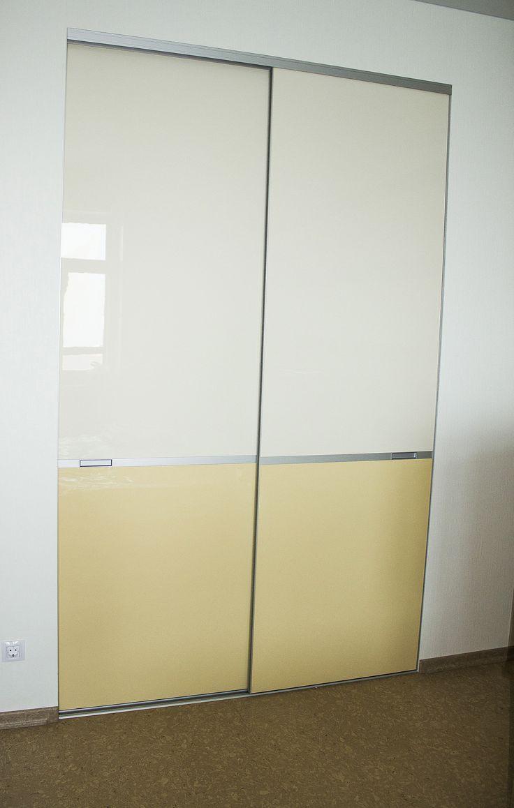 Двери гардеробной (тонкие направляющие)