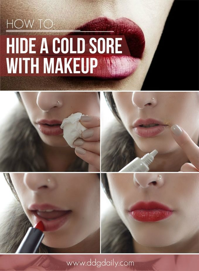 DDG DIY: How to hide a cold sore with makeup