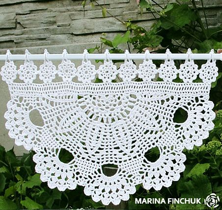 Шторки-zazdrostki «Маргаритки», crochet-curtains