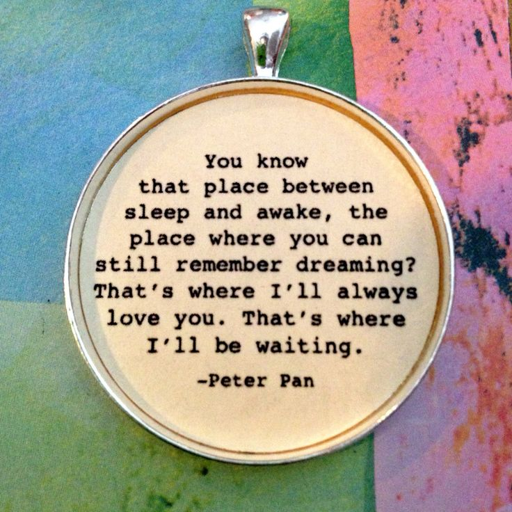 Book Quote Movie Quote Peter Pan Necklace van LovetheColor op Etsy, $10,95