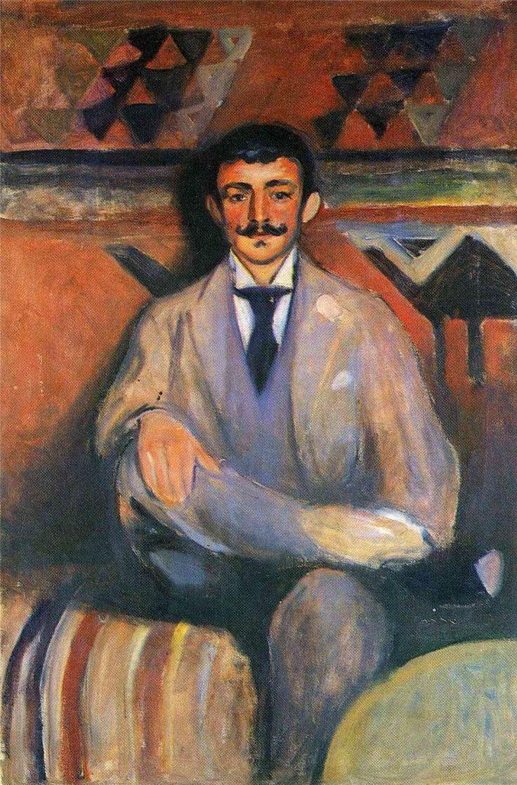 The Painter Jacob Bratland.1892.by Edvard Munch
