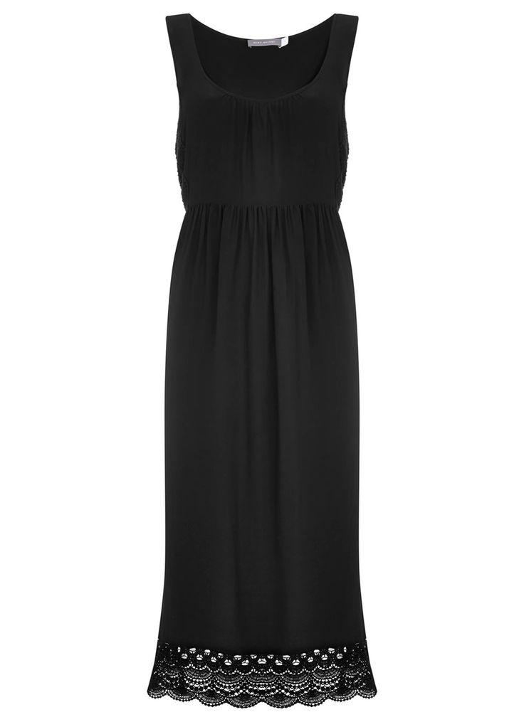 Black Lace Trim Midi Dress | Dresses & Jumpsuits | MintVelvet #MintVelvet #SS15 #MVSS15