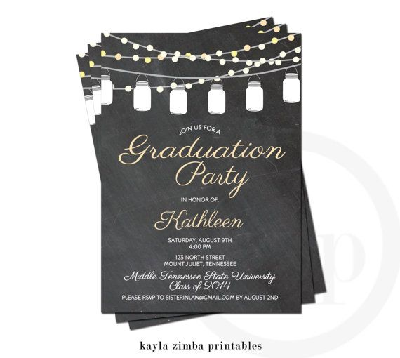 25 best ideas about Graduation Invitations – College Graduation Party Invitation