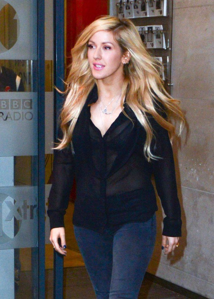 Pin for Later: Can't-Miss Celebrity Pics!  Ellie Goulding visited London's BBC Radio 1 studios on Thursday.