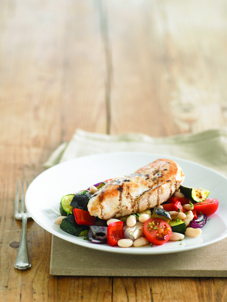 Roast Chicken Breast with Ratatouille: Recipe courtesy of Healthy Food Guide