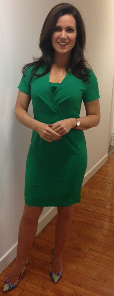 Susanna Reid, 5'3 TV presenter wearing her Jeetly Darcy dress. #susannareid #tv #presenter #style