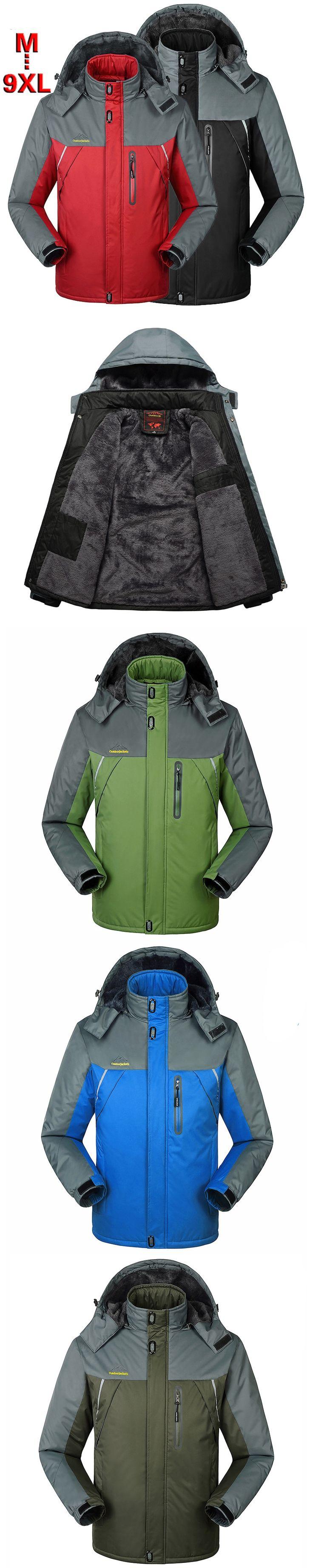Mens Jacket Outwear Windbreaker Waterproof Parka warm coat men outerwear windproof jackets sportswear 7XL 8XL 9XL,YA366