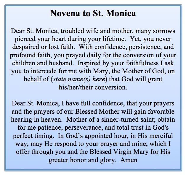 Novena to St. Monica