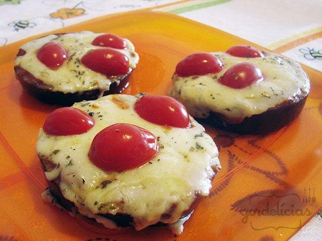 Mini Pizza de Beringela - Gordelícias