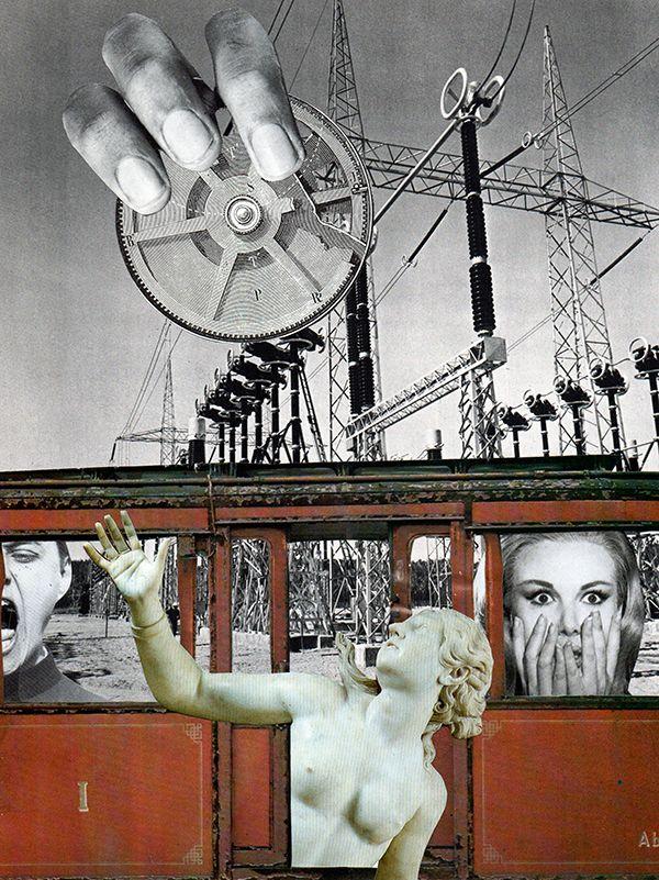 Train. Collage papier, 2014 Collage de Zophie Zyphon