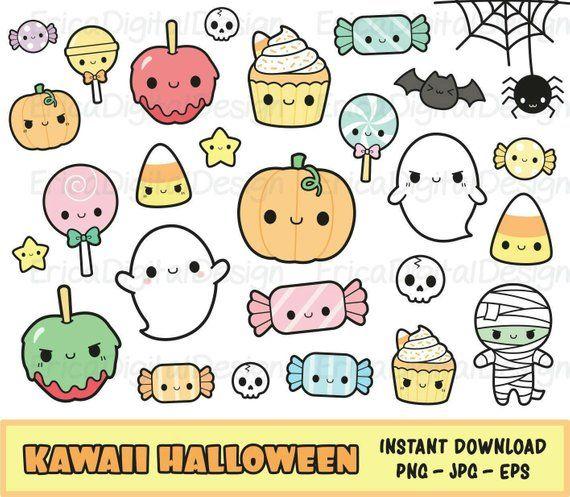 Clipart di Halloween kawaii impostare ClipArt di Halloween ... (570 x 497 Pixel)