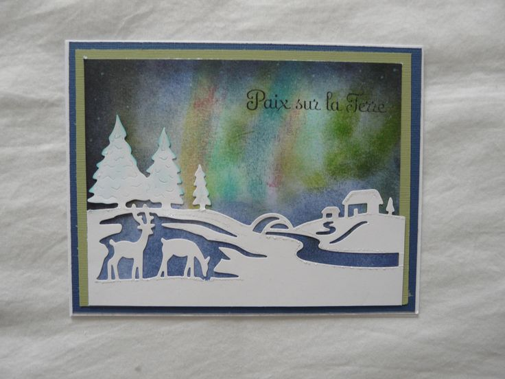 Wild Rose Die Cut, Northern Lights technique..but messy, lol