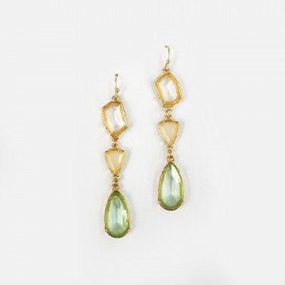 Redcurrent 3 Drop Gems Earrings